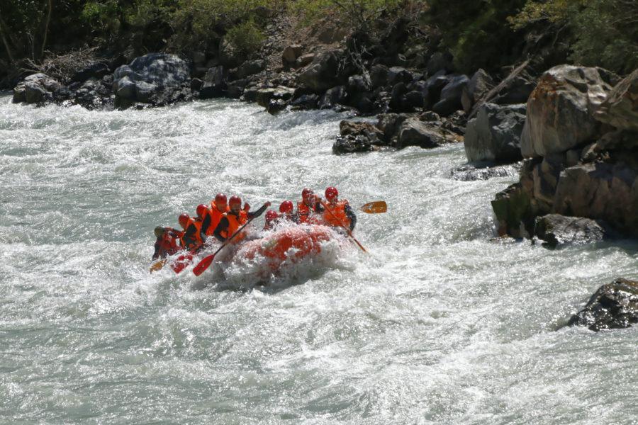 Rafting v Kyrgyzstánu